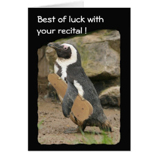 Penguin Violin Recital, Good Luck Card
