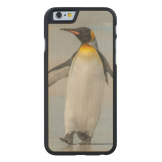 Penguin walking on the beach carved® maple iPhone 6 case