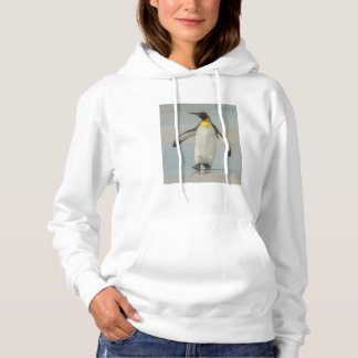 Penguin walking on the beach hoodie