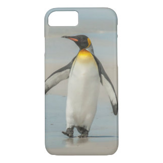 Penguin walking on the beach iPhone 7 case