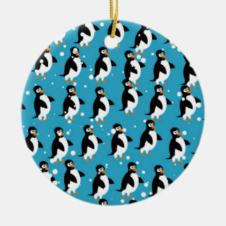 Penguin Wallpaper Ceramic Ornament