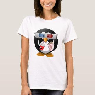 Penguin watching to movie T-Shirt