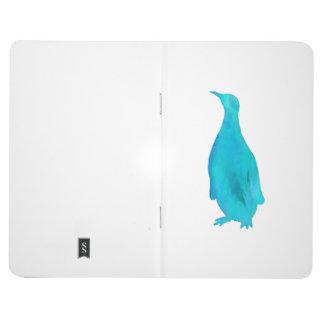 Penguin Watercolor Silhouette Teal Turquoise Aqua Journal