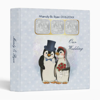 Penguin Wedding Album Binder