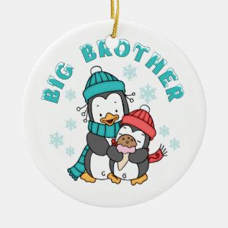 Penguin Winter Big Brother Ceramic Ornament