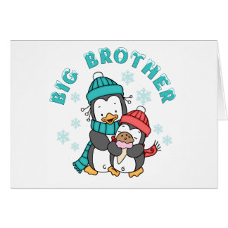 Penguin Winter Big Brother Note Card