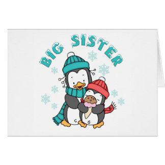 Penguin Winter Big Sister Card