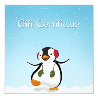 Penguin Winter Illustration - Gift Certificate Card