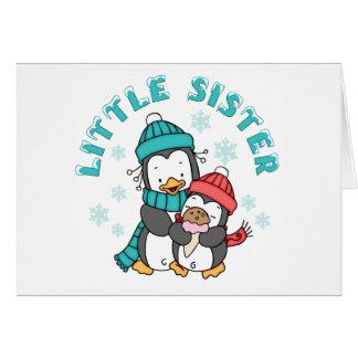 Penguin Winter Little Sister Note Card
