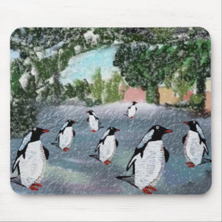Penguin Winterwonderland Mousepad