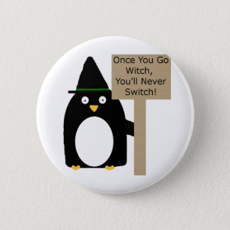 Penguin Witch 2 Inch Round Button