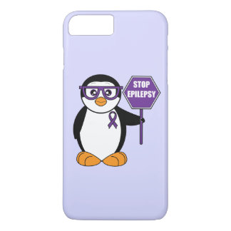 Penguin with a Sign: Stop Epilepsy iPhone 7 Plus Case