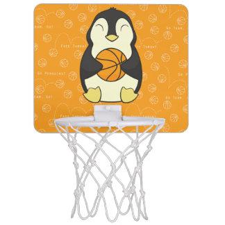 Penguin with Basketball Mini Basketball Hoop
