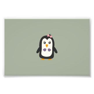 Penguin with bikini art photo