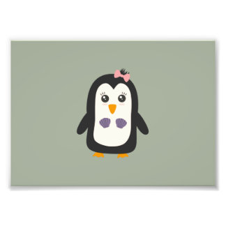 Penguin with bikini photo art