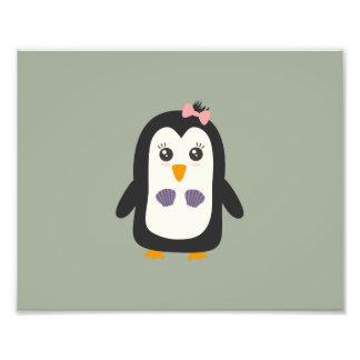 Penguin with bikini photographic print
