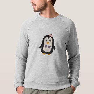 Penguin with bikini sweatshirt