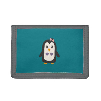 Penguin with bikini trifold wallet