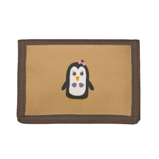 Penguin with bikini trifold wallets