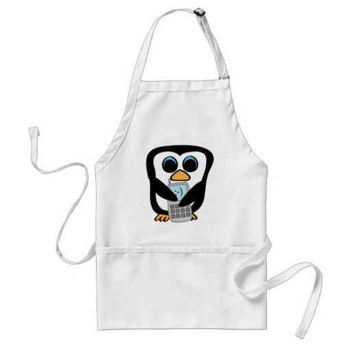 Penguin with Cellphone Aprons