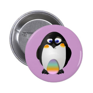 Penguin with Easter Egg 2 Inch Round Button