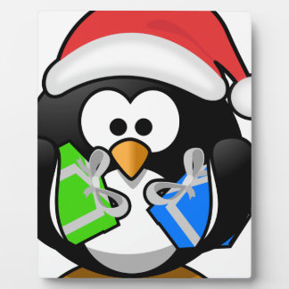 Penguin with Gifts Plaque