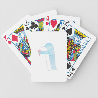 Penguin With Ice Cream Bicycle Playing Cards