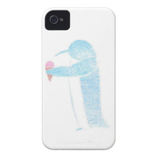 Penguin With Ice Cream iPhone 4 Case-Mate Cases