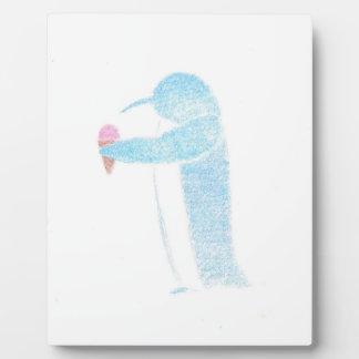 Penguin With Ice Cream Plaque