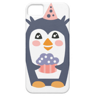 Penguin With Party Attributes Girly Stylized Funky Case For The iPhone 5