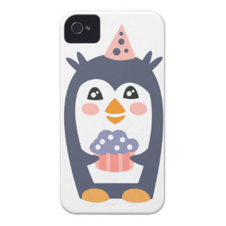 Penguin With Party Attributes Girly Stylized Funky iPhone 4 Cover