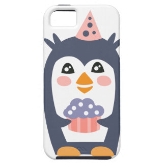 Penguin With Party Attributes Girly Stylized Funky iPhone 5 Case