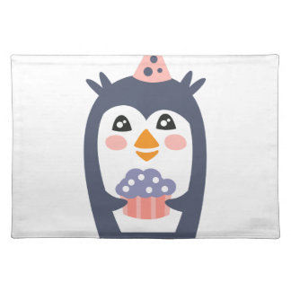 Penguin With Party Attributes Girly Stylized Funky Placemat