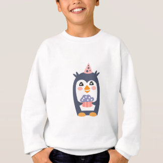 Penguin With Party Attributes Girly Stylized Funky Sweatshirt