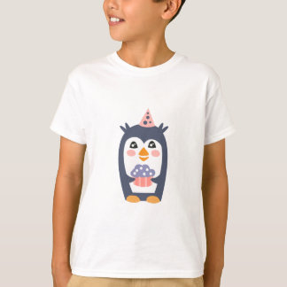 Penguin With Party Attributes Girly Stylized Funky T-Shirt