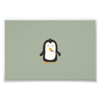 Penguin with sushi art photo