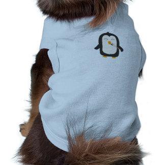 Penguin with sushi dog t shirt