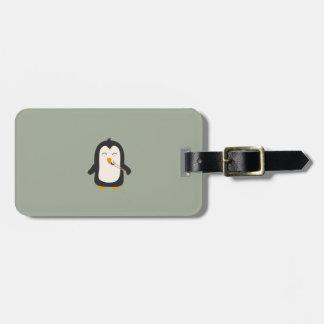 Penguin with sushi luggage tag