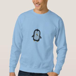 Penguin with sushi sweatshirt