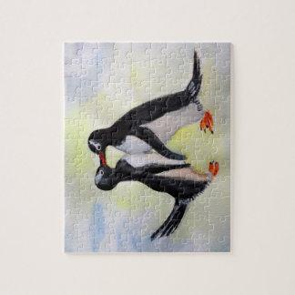Penguins Arctic Drawing Puzzle