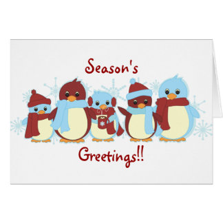 Penguins Around Card