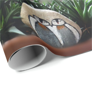 """Penguins art  Photo Matte Wrapping Paper, 30"""" x 6' Wrapping Paper"""