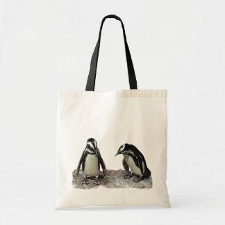 Penguins Canvas Bags