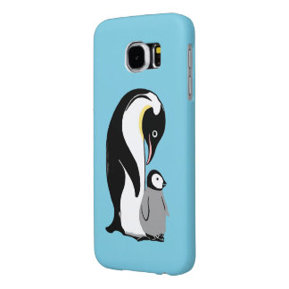 Penguins Blue Samsung Galaxy S6 Case