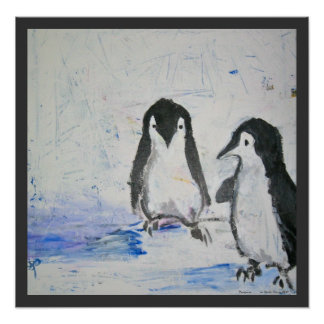 Penguins by Sarah Harris Art Print