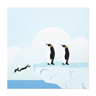 Penguins Canvas Prints
