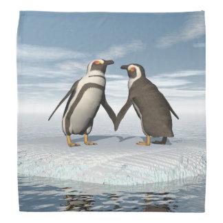 Penguins couple bandana