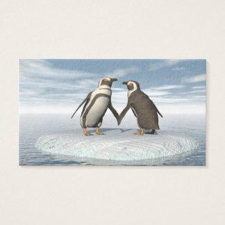 Penguins couple business card