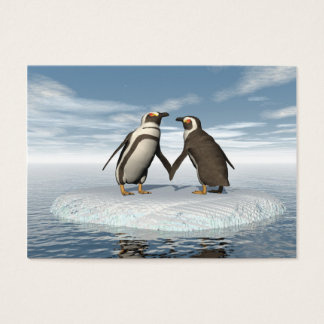 Penguins couple business card