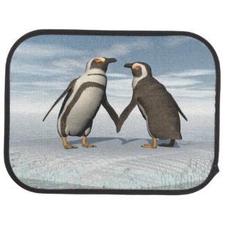 Penguins couple car floor carpet